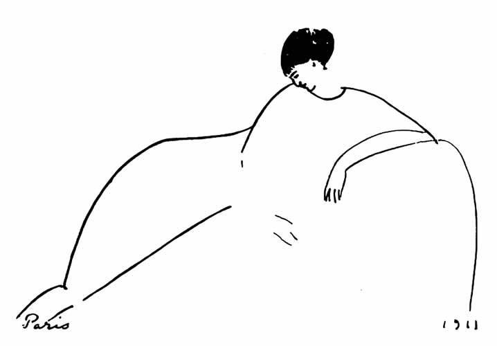"""Амедео Модильяни. """"Анна Ахматова"""". 1911."""