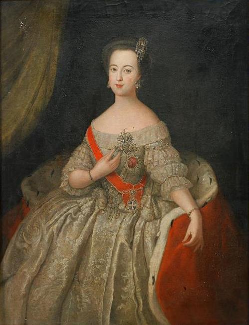 Антуан Пэн. Портрет Екатерины II в молодости.