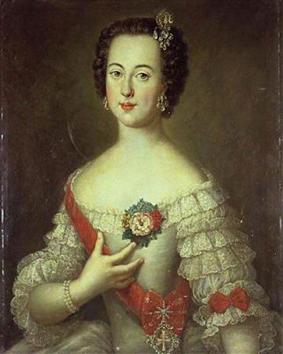 Луи Каравак. Портрет великой княгини Екатерины Алексеевны. 1745.