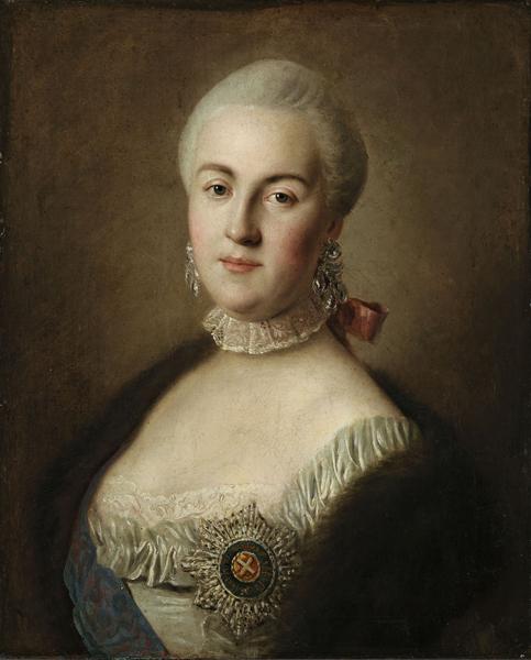 Пьетро Ротари. Портрет великой княгини Екатерины Алексеевны. 1761.