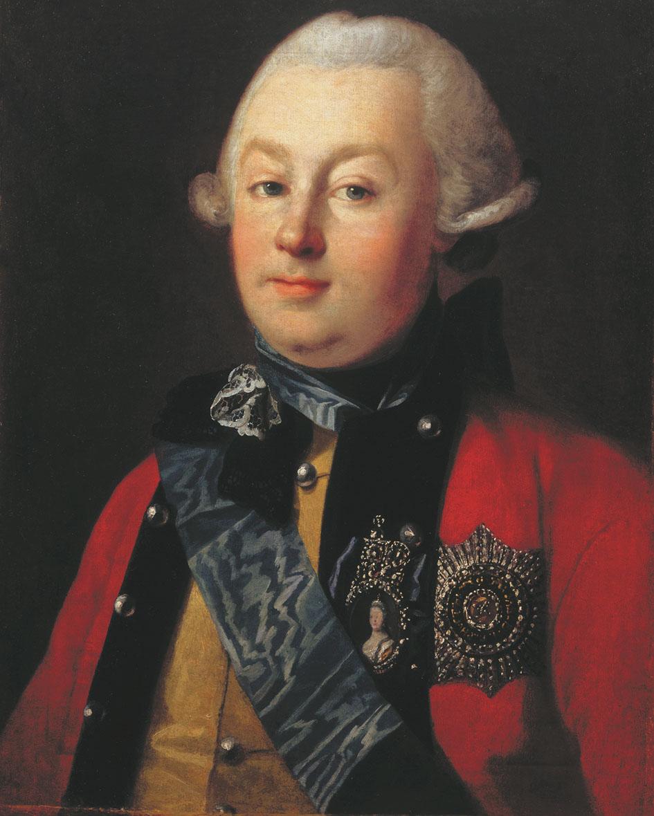 Карл Христинек. Портрет князя Г. Г. Орлова. 1768.