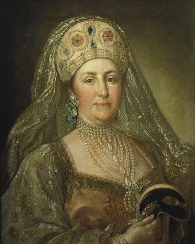 Неизв. худ. Портрет Екатерины II в русском наряде.
