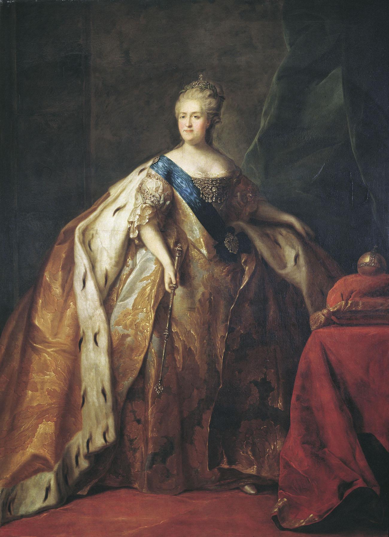 Пётр Дрождин. Портрет Екатерины II. 1796.
