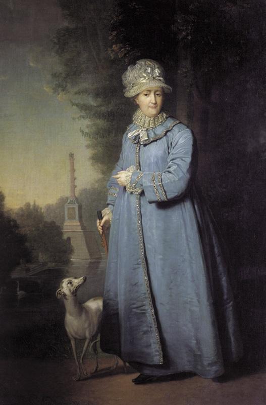 Владимир боровиковский. Екатерина II на прогулке в Царскосельском парке. 1794.