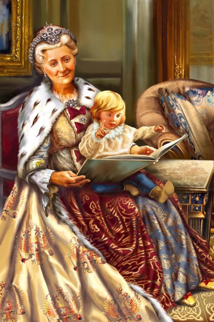 Елена Доведова. Екатерина II с внуком Александром.