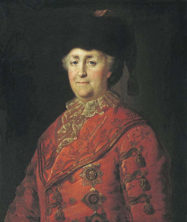 Михаил Шибанов. Портрет Екатерины II в дорожном костюме. 1787.