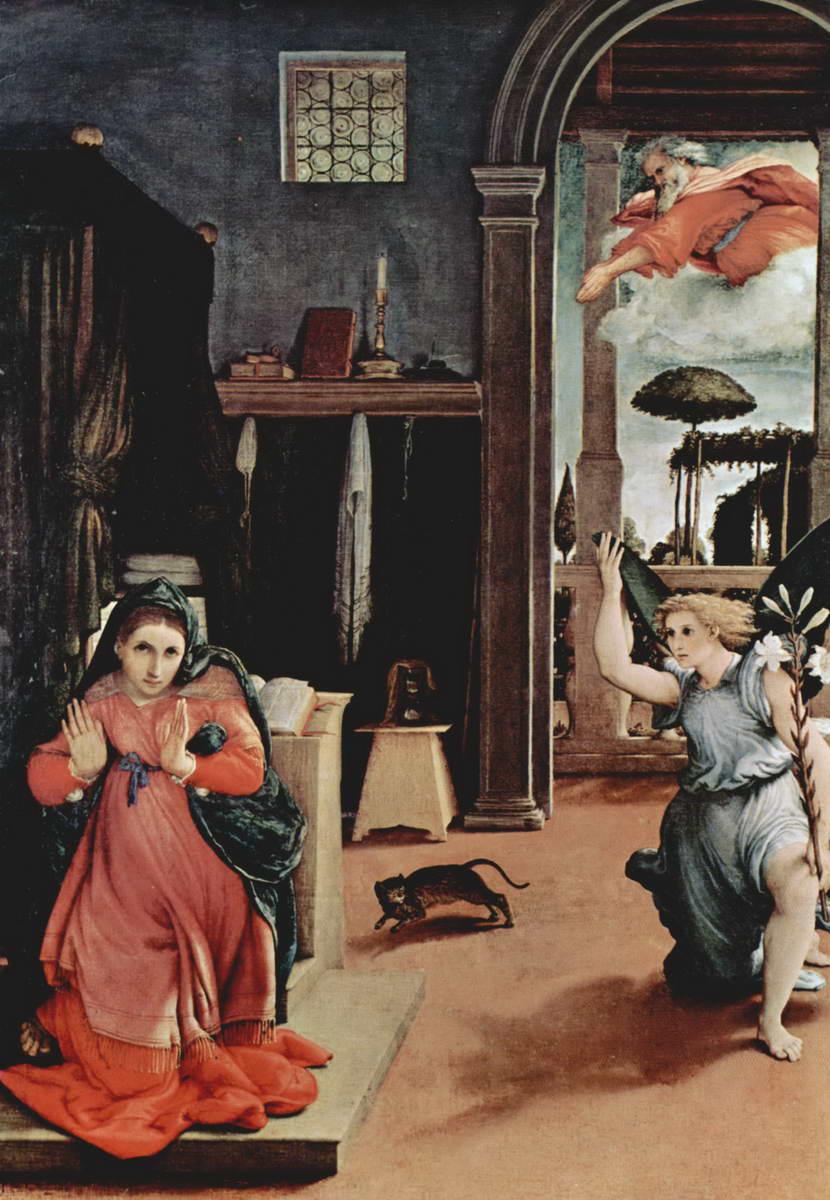 """Лоренцо Лотто. """"Благовещение"""". Около 1527."""