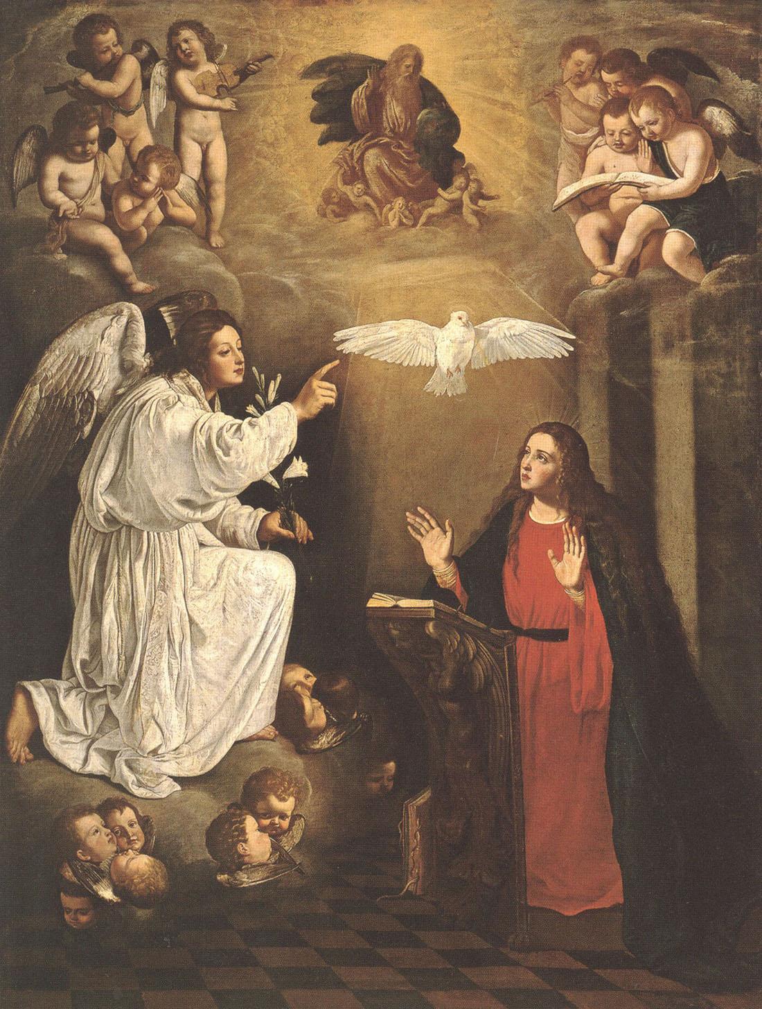 """Педро Нуньес дель Валье. """"Благовещение"""". Между 1623-1630. Эрмитаж, Санкт-Петербург."""