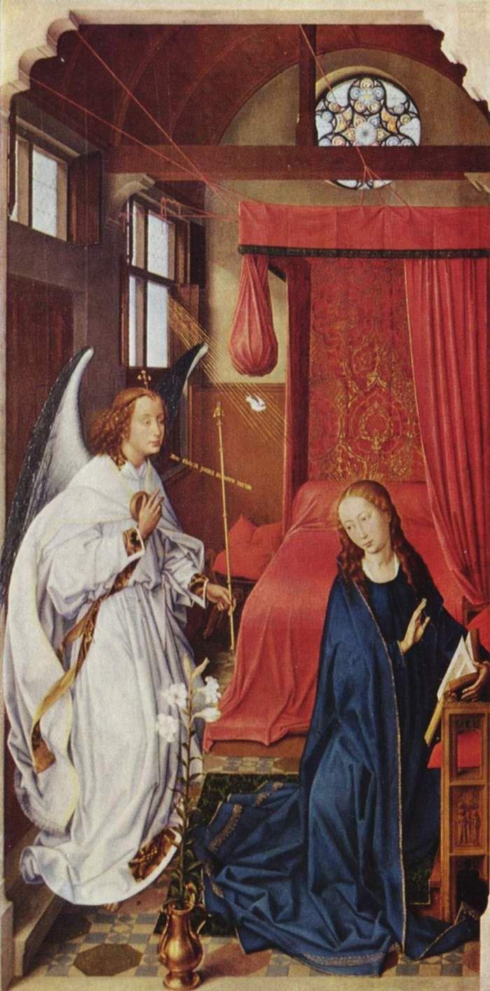 Р. ван дер Вейден. Благовещение Марии.