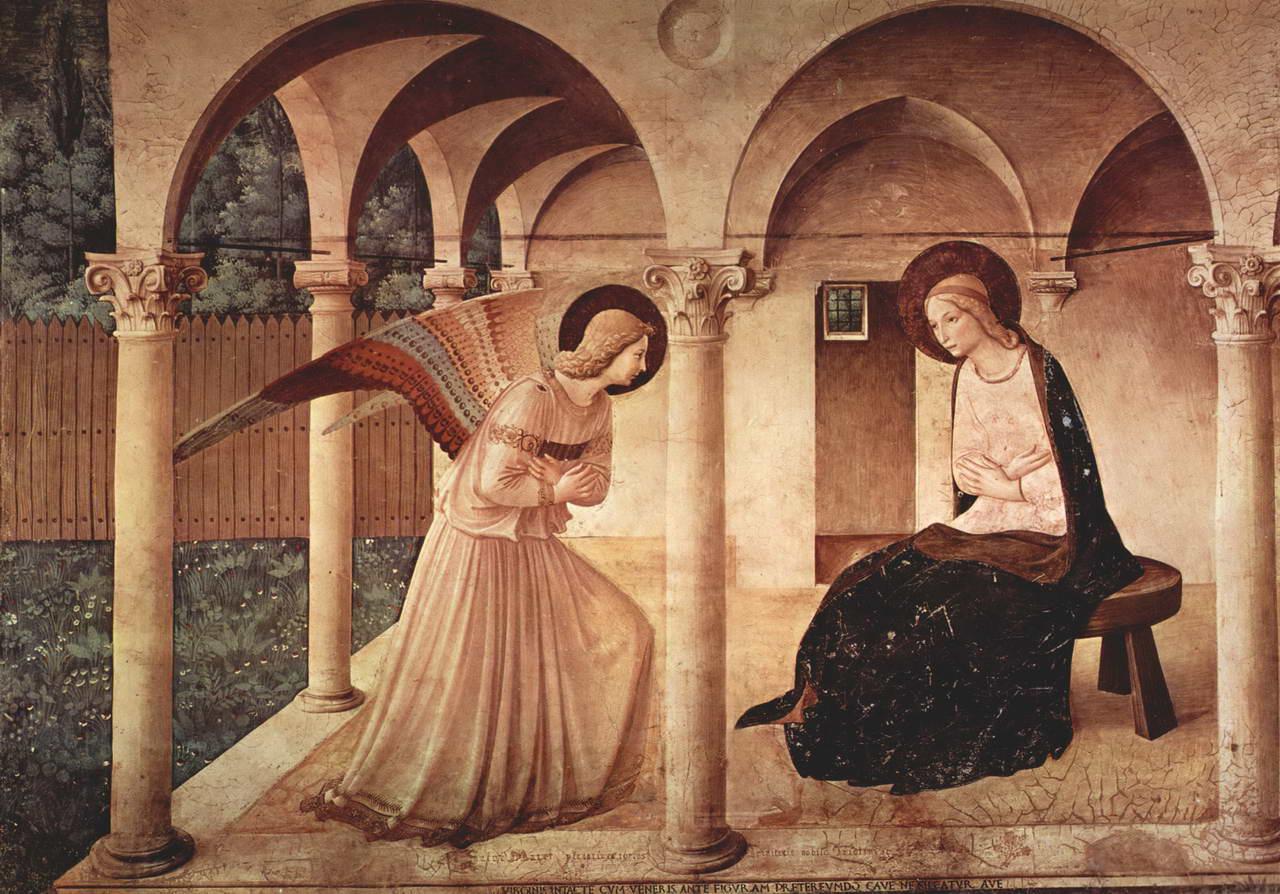 Фра Беато Анджелико. Благовещение. Цикл фресок доминиканского монастыря Сан Марко во Флоренции.