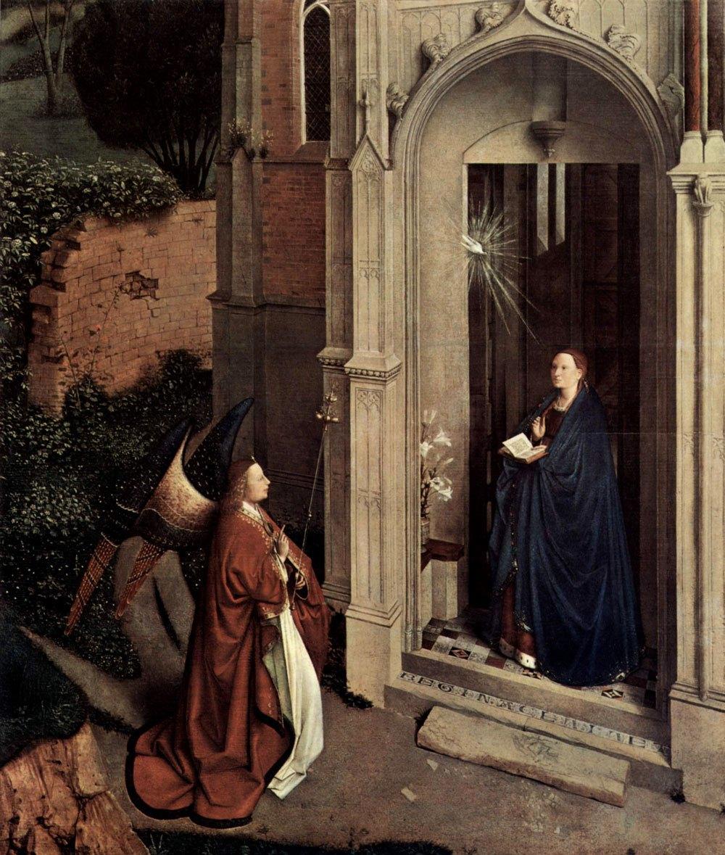 Ян ван Эйк. Благовещение у церкви.