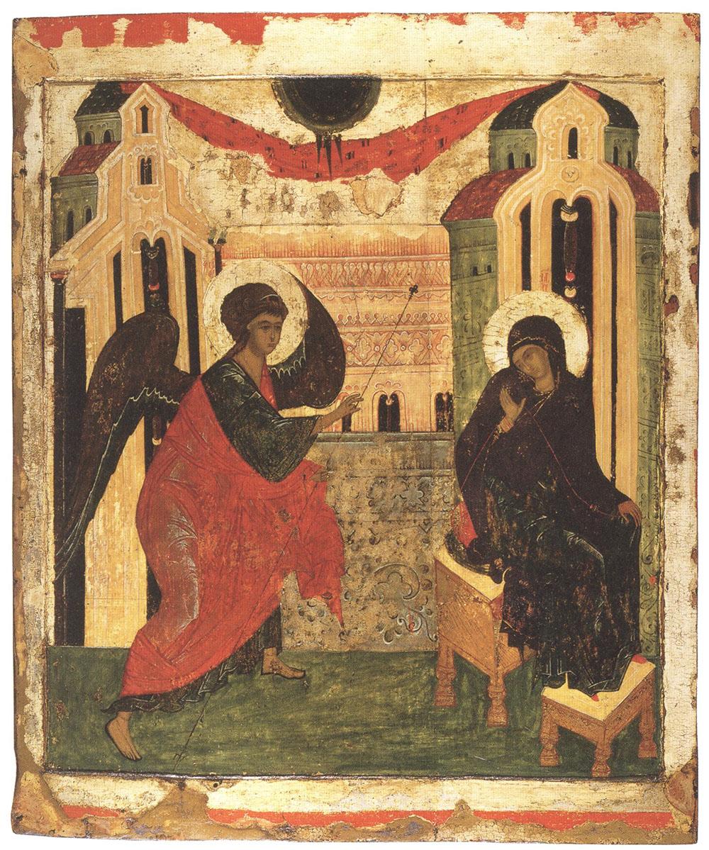 """""""Благовещение"""". Россия, Новгород (?). XVI век."""