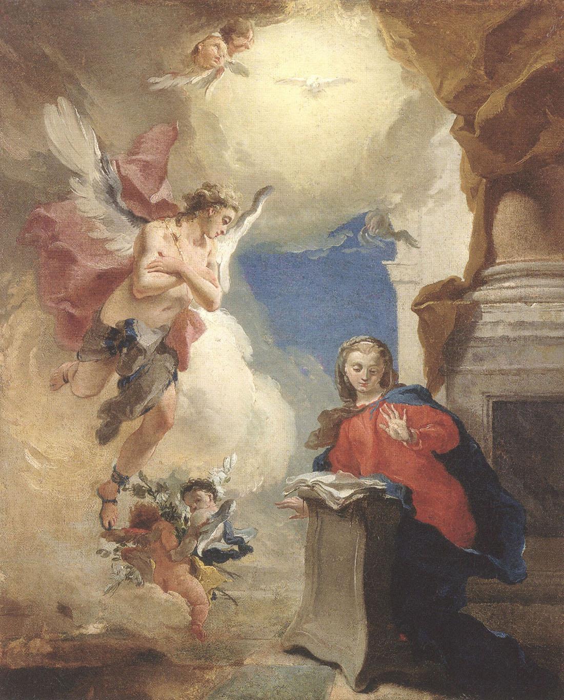 """Джованни Баттиста Тьеполо. """"Благовещение"""". Между 1724 и 1725."""