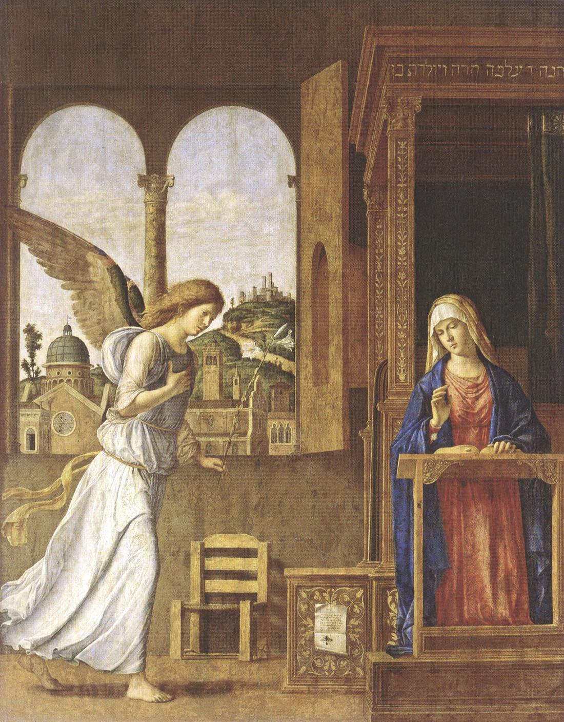 """Джованни Баттиста Чима да Конельяно. """"Благовещение"""". 1495."""