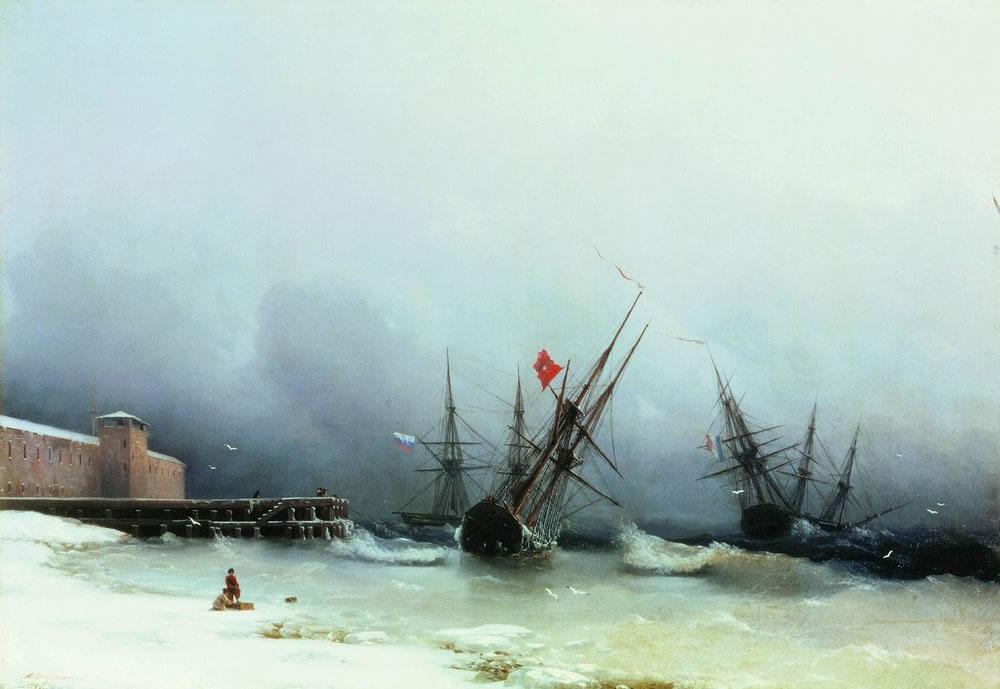 И. Айвазовский. Сигнал бури. 1851.