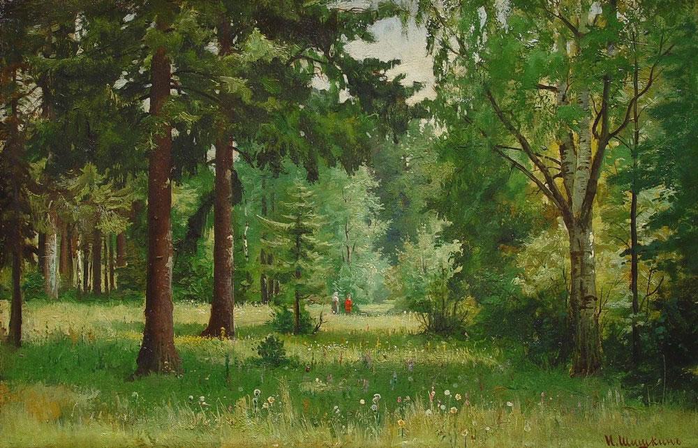 Лес детская картинка