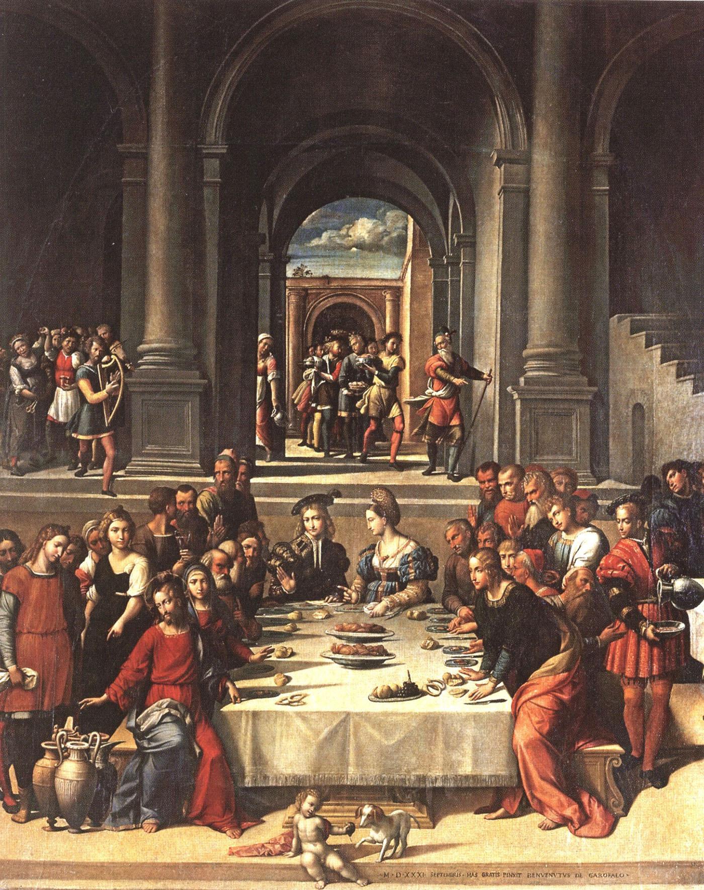 гарофало бенвенуто тизи брак в кане галилейской 1531