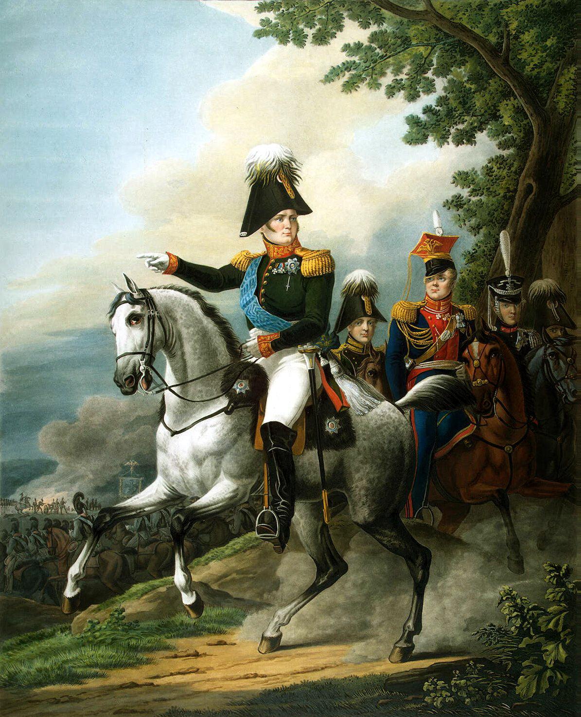 """Л. Поль. """"Конный портрет Александра I""""."""