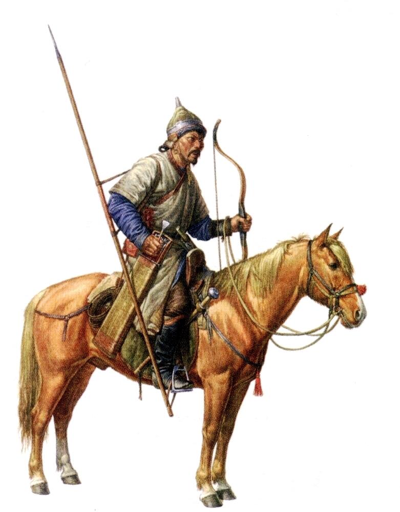 О. Фёдоров. Золотоордынский конный воин. XIV век.