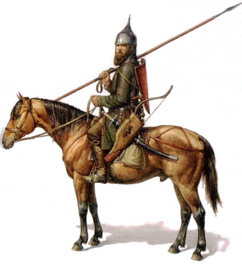 О. Фёдоров. Конный русский воин. XIV век.