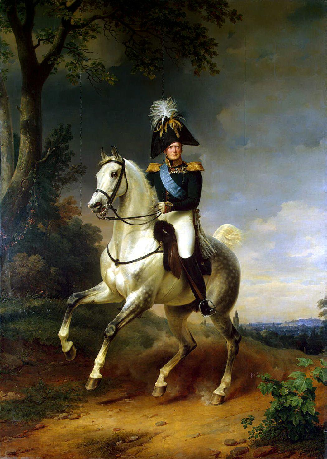 """Франц Крюгер. """"Портрет Александра I верхом на коне""""."""
