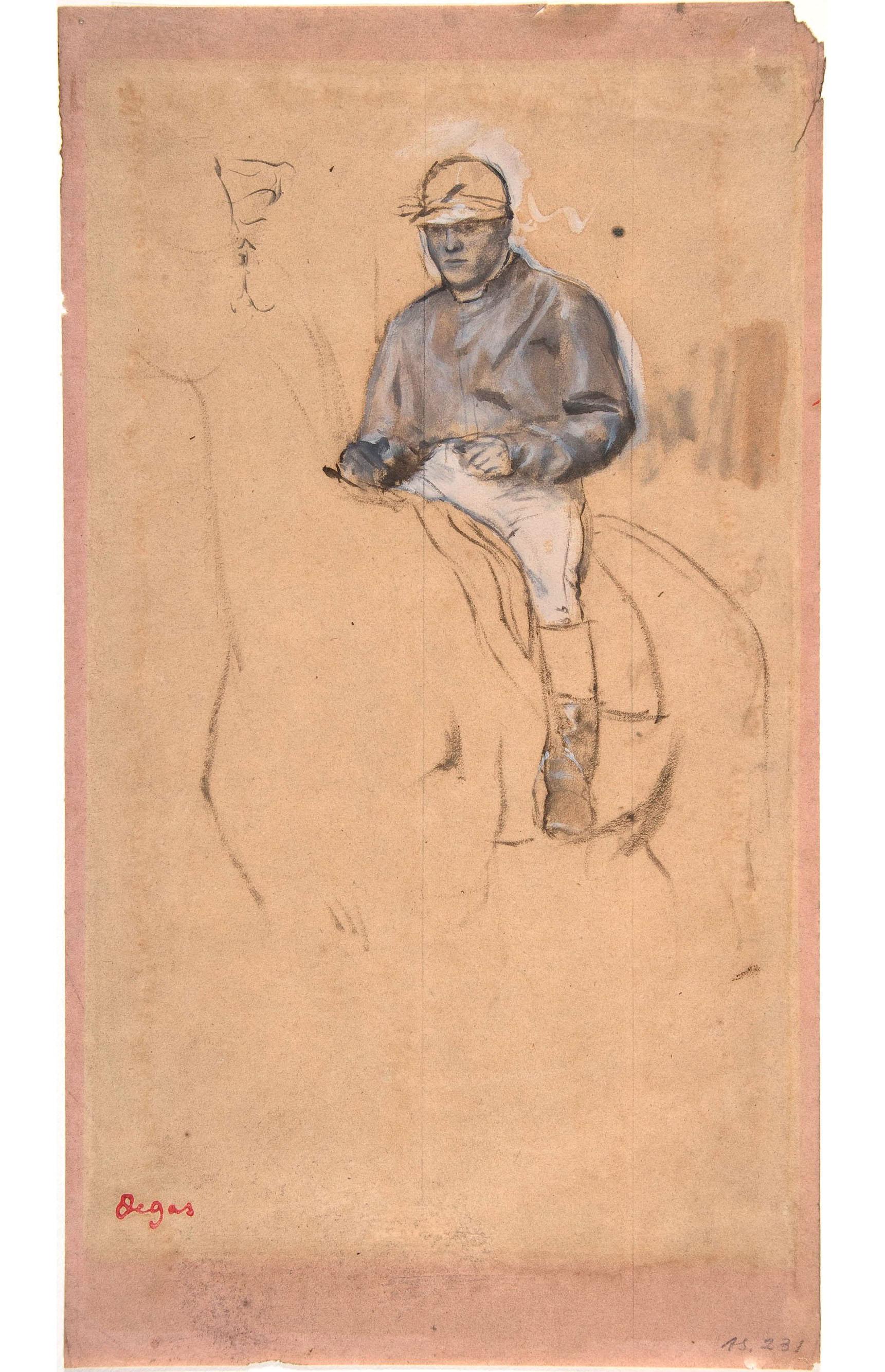 Эдгар Дега. Жокей на коне. 1850-1917.