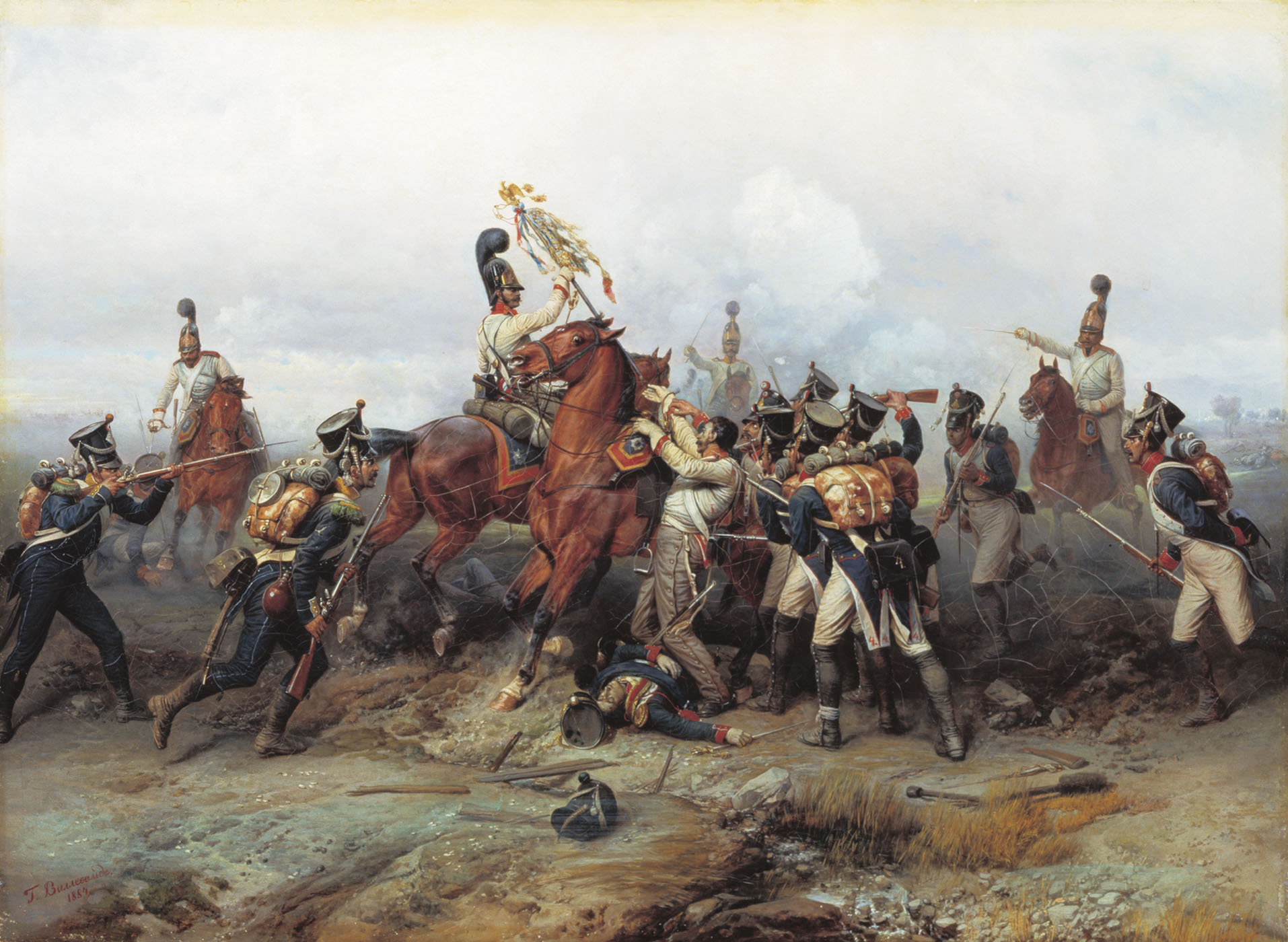Богдан Виллеваде. Подвиг конного полка в сражении при Аустерлице в 1805 году. 1884.