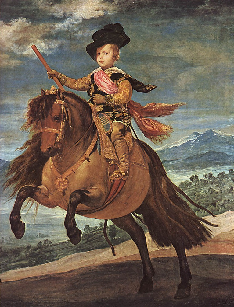 Диего Веласкес. Портрет инфанта Бальтазара Карлоса на коне. 1634-1635.
