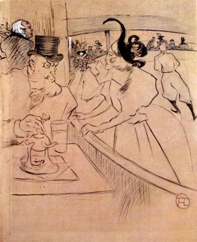 Анри де Тулуз-Лотрек. В ледовом дворце. Профессиональная красота. 1896.