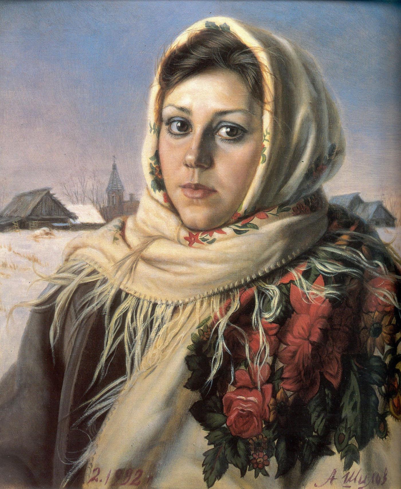 Александр Шилов. Русская красавица. 1992.