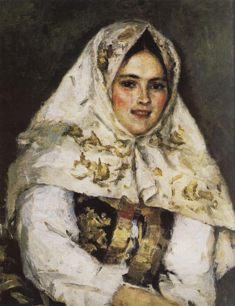 Василий Суриков. Сибирская красавица. Портрет Е. А. Рачковской. 1891.