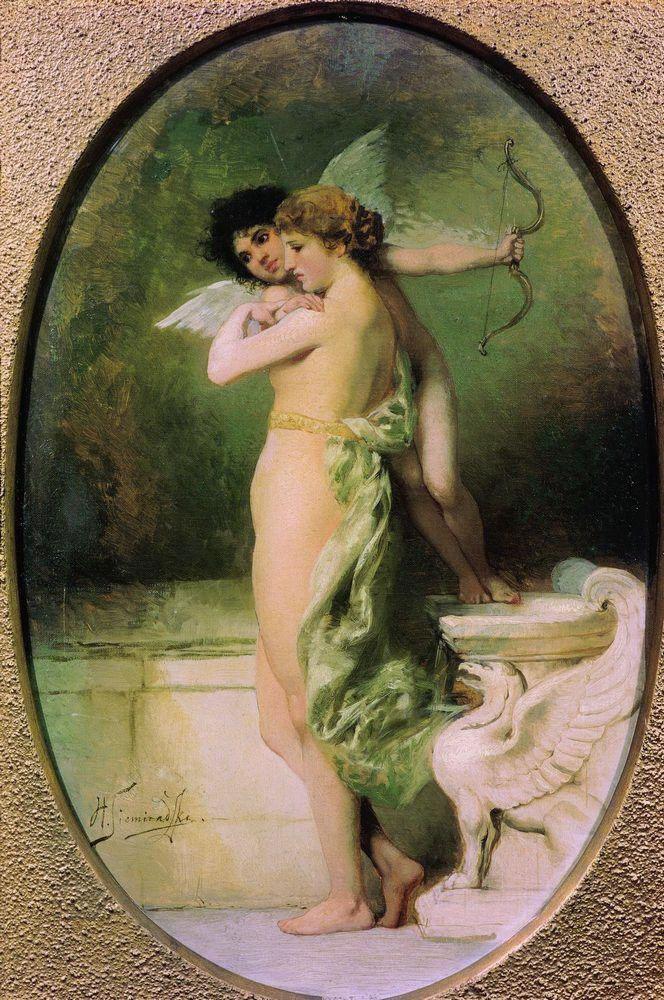 Генрих Семирадский. Красота и Любовь (Амур и Психея). 1894.