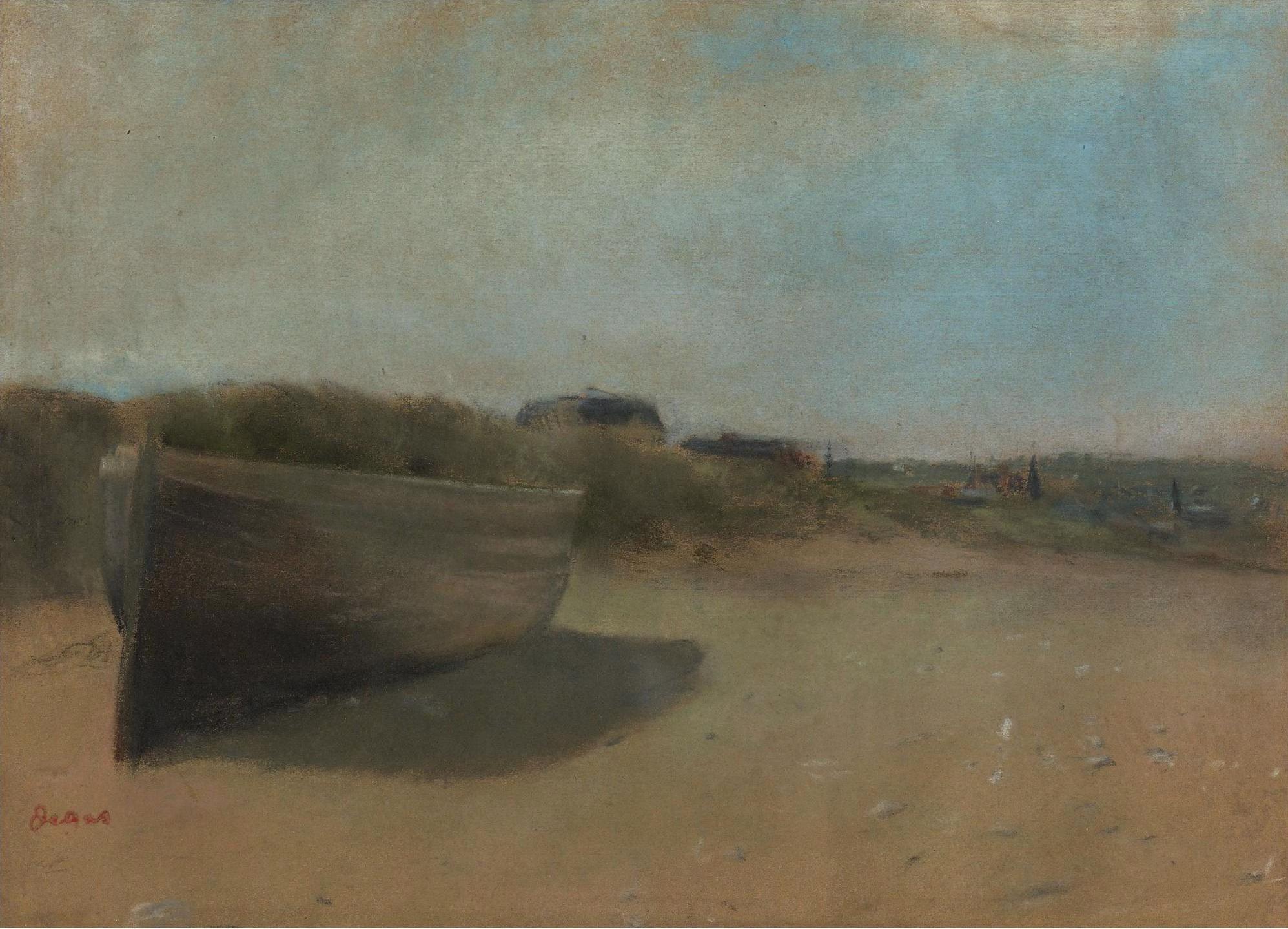 Эдгар Дега. Лодка на песке. 1869.