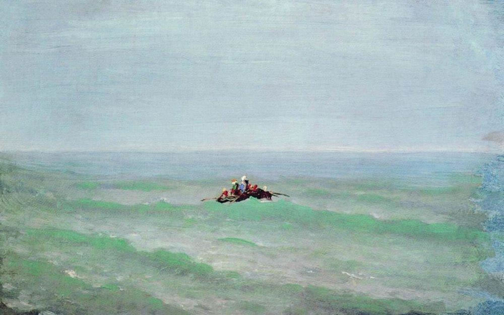 Архип Куинджи. Лодка в море. Крым. До 1875.