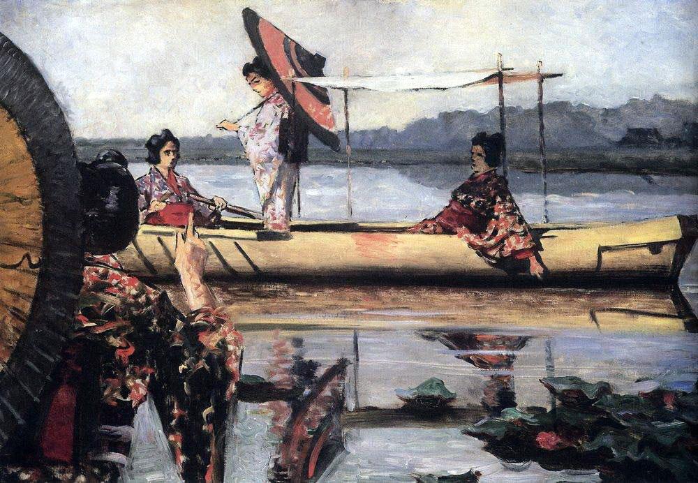 Василий Верещагин. Прогулка в лодке. 1903-1904.