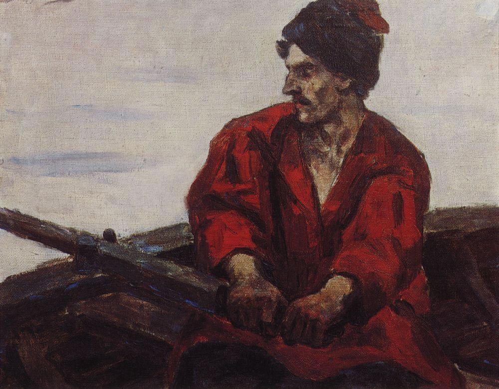 Василий Суриков. Гребец в лодке. 1912.