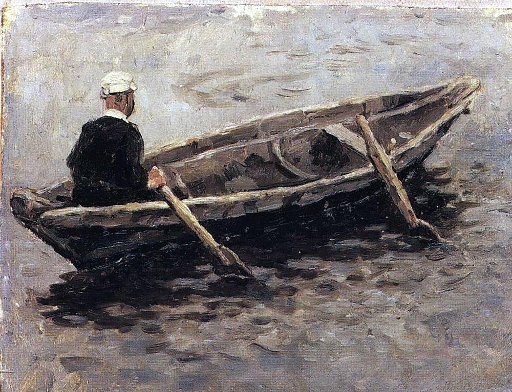 Василий Суриков. В лодке.