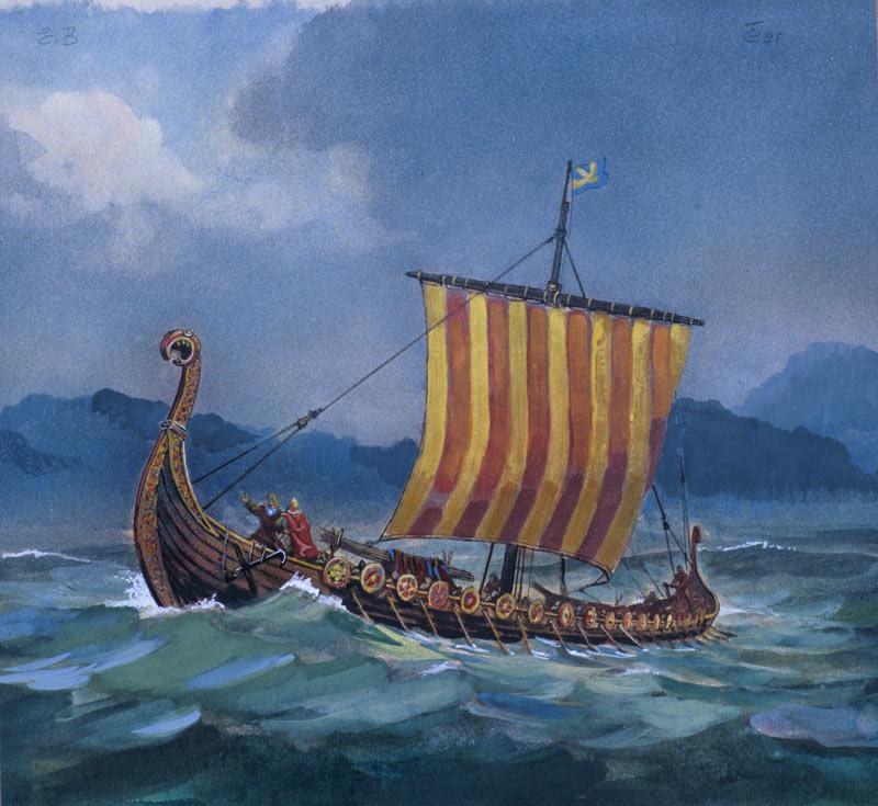 Евгений Войшвилло. Лодка викингов дракар.
