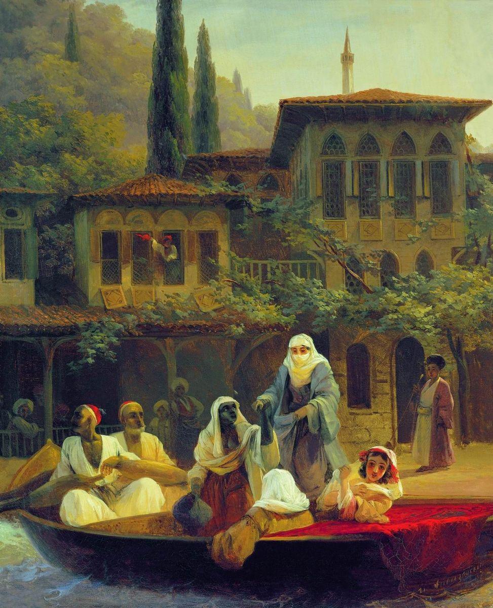Иван Айвазовский. Восточная сцена. В лодке. 1846.