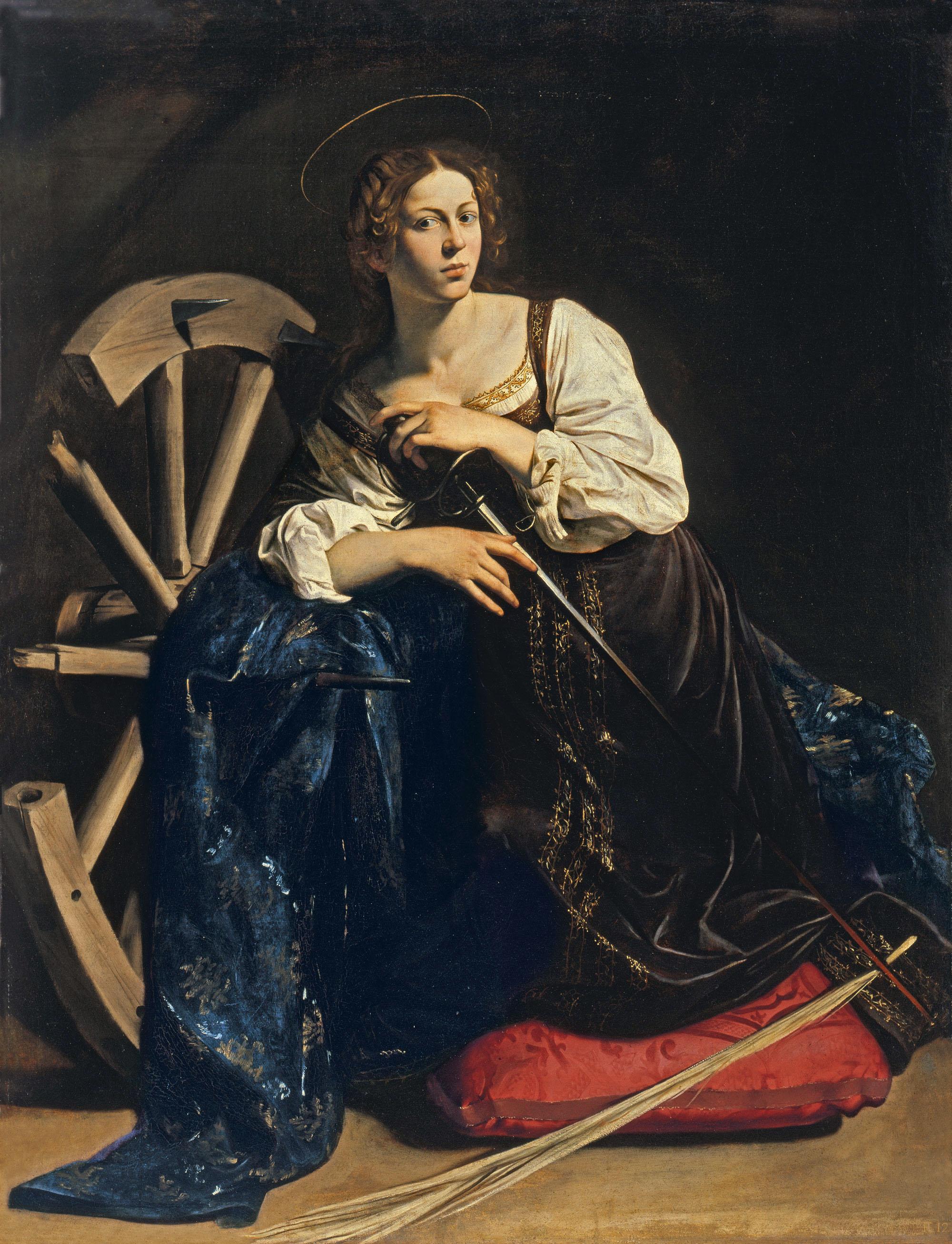 Караваджо. Святая Екатерина Александрийская. 1596.