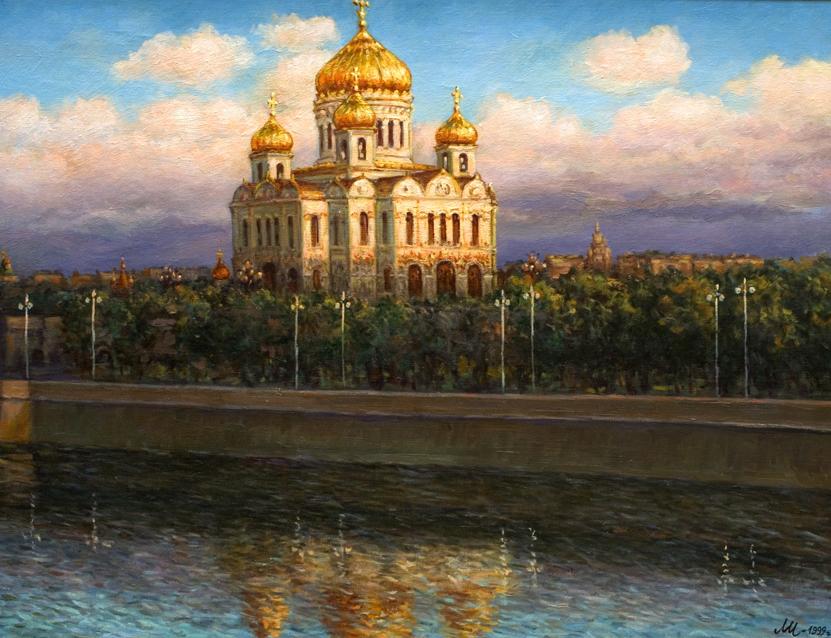 Рассвет на москве реке картинки нарисовать