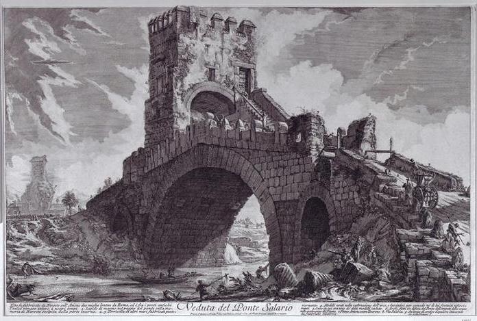 Джованни Пиранези. Мост Салерно. Из серии
