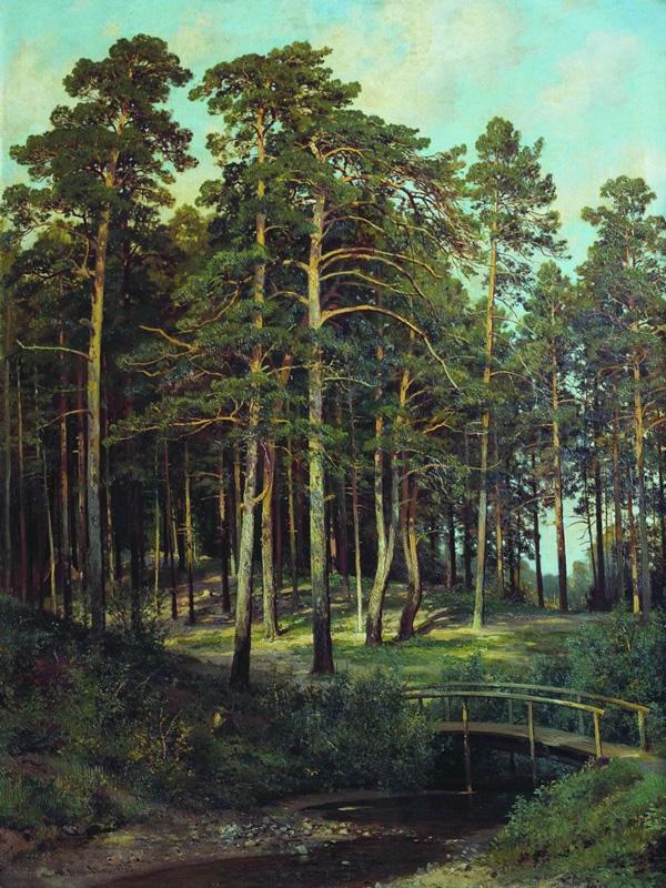 Иван Шишкин. Мостик в лесу. 1895.