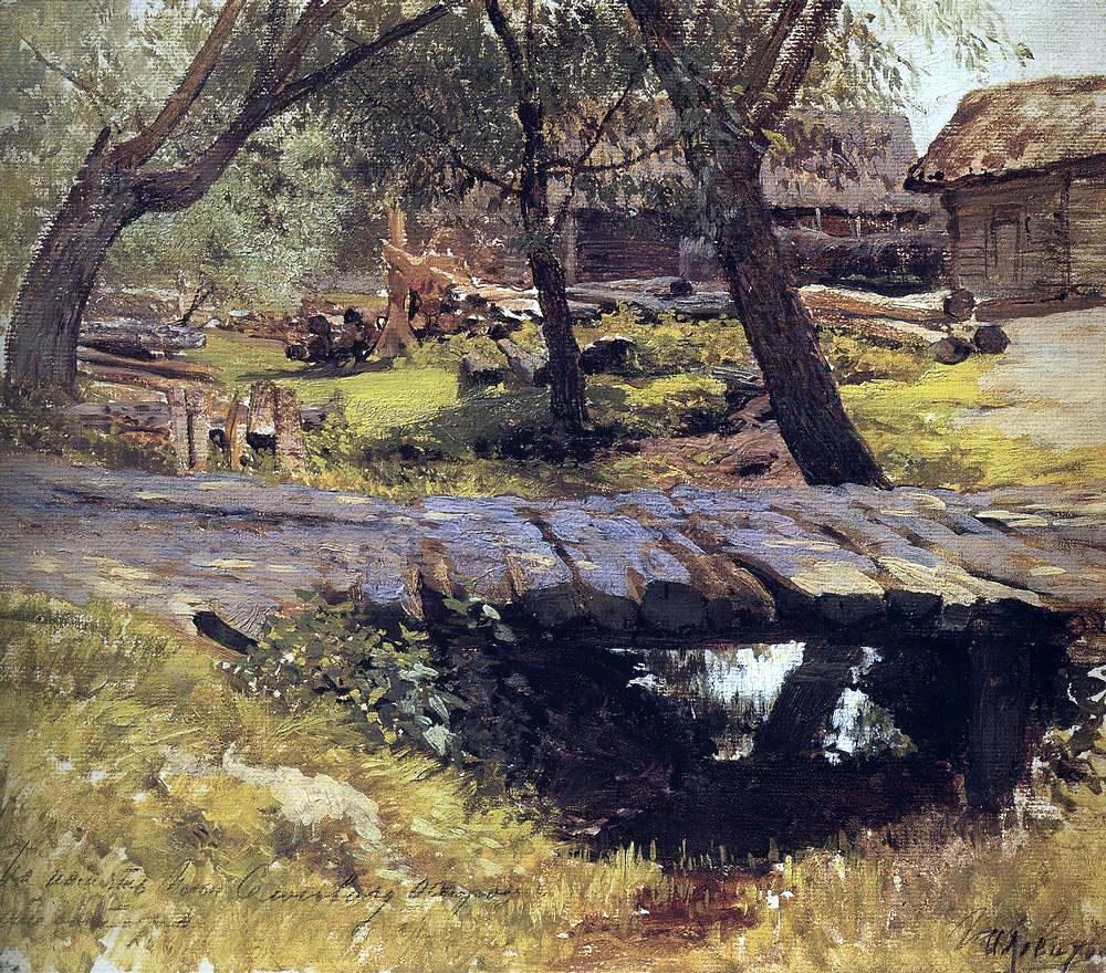 Исаак Левитан. Мостик. Саввинская слобода. 1884.