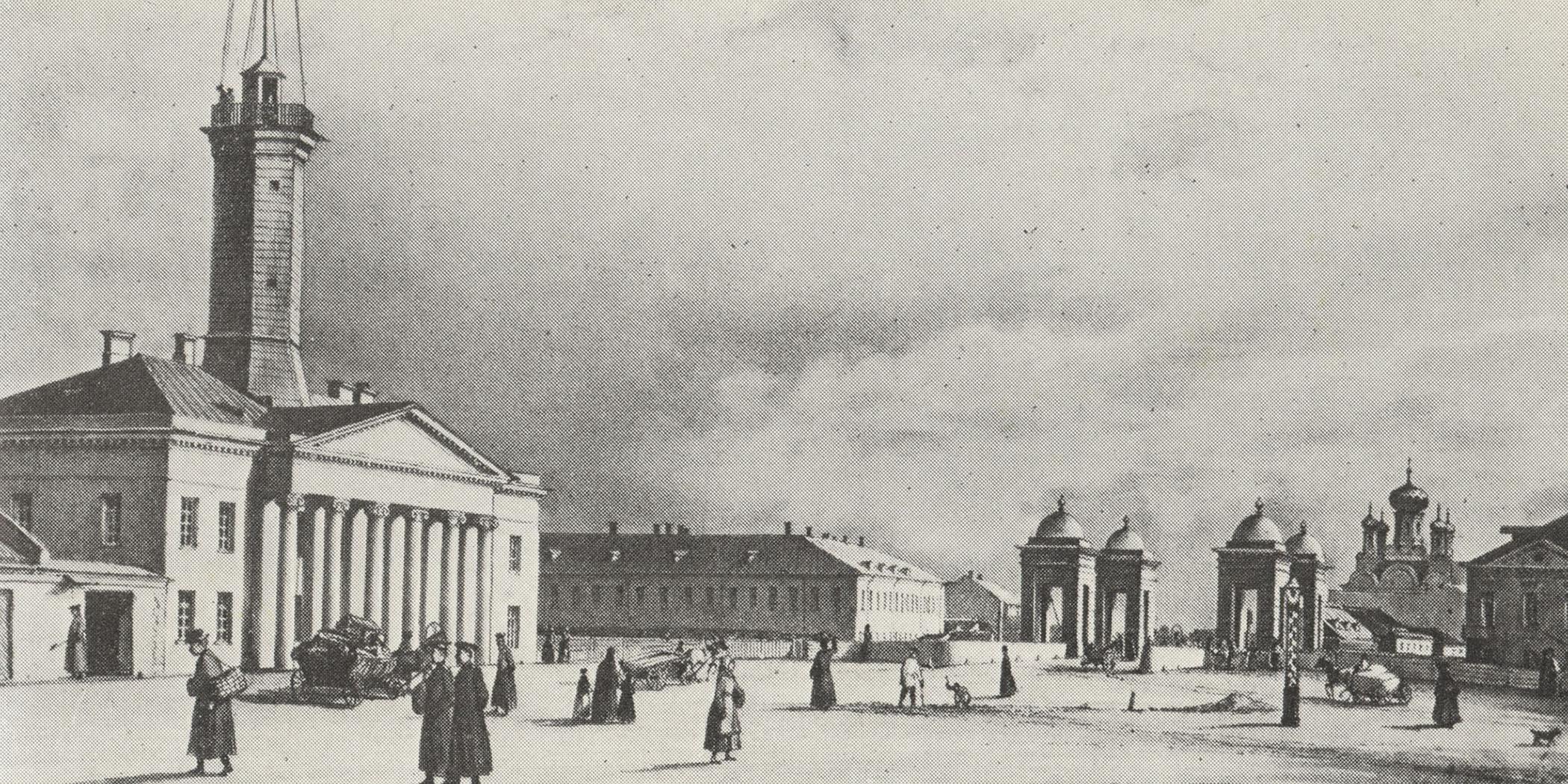 Ф.-В. Перро. Площадь у Калинкина моста. Около 1840.