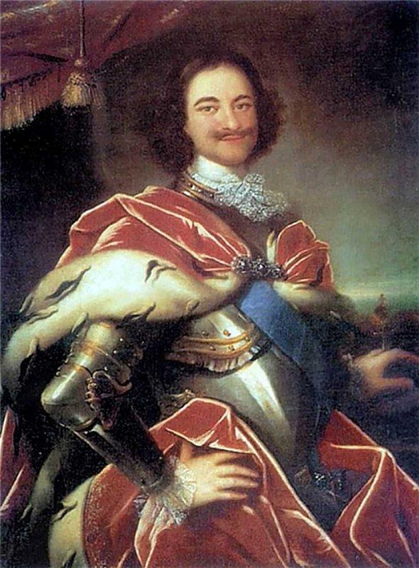 Пётр i в живописи И Никитин Портрет Петра i 1717