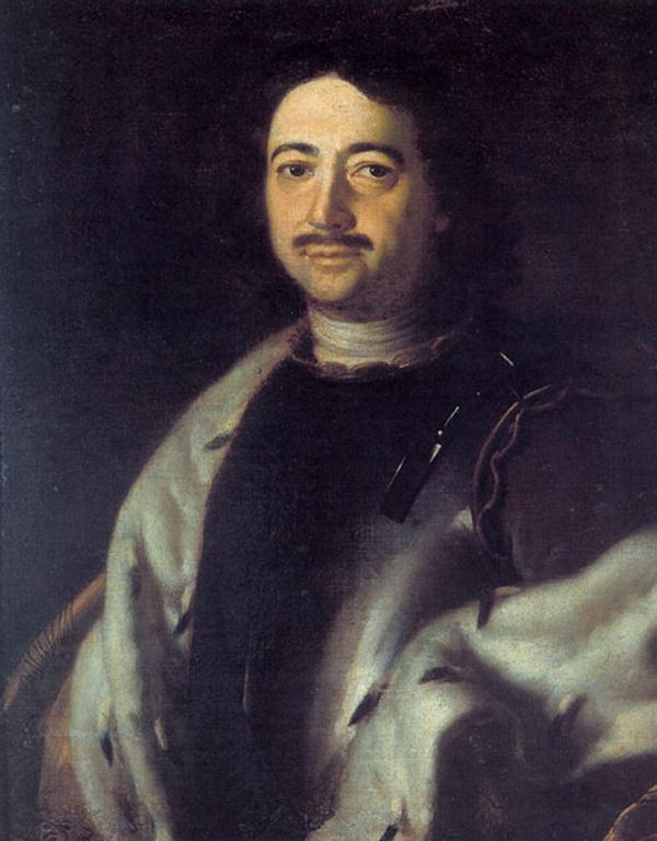 Портрет Петра I в рыцарских