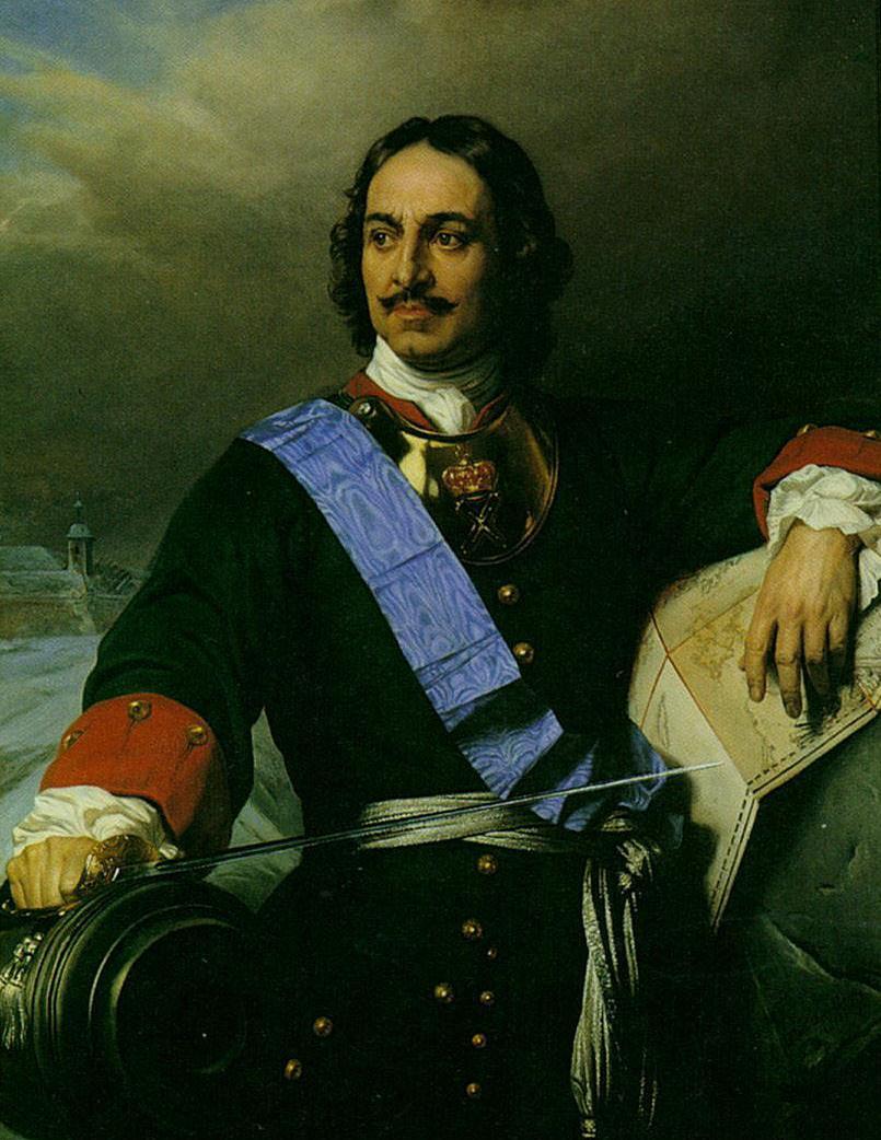 П. Деларош. Портрет Петра I. 1838.