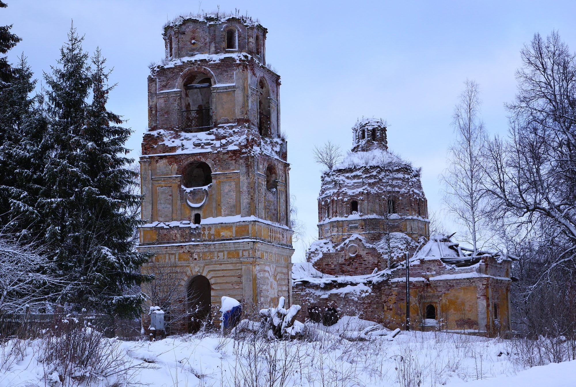 Д. Новое, Бежаницкий район, Псковская область. Церковь Успенская.