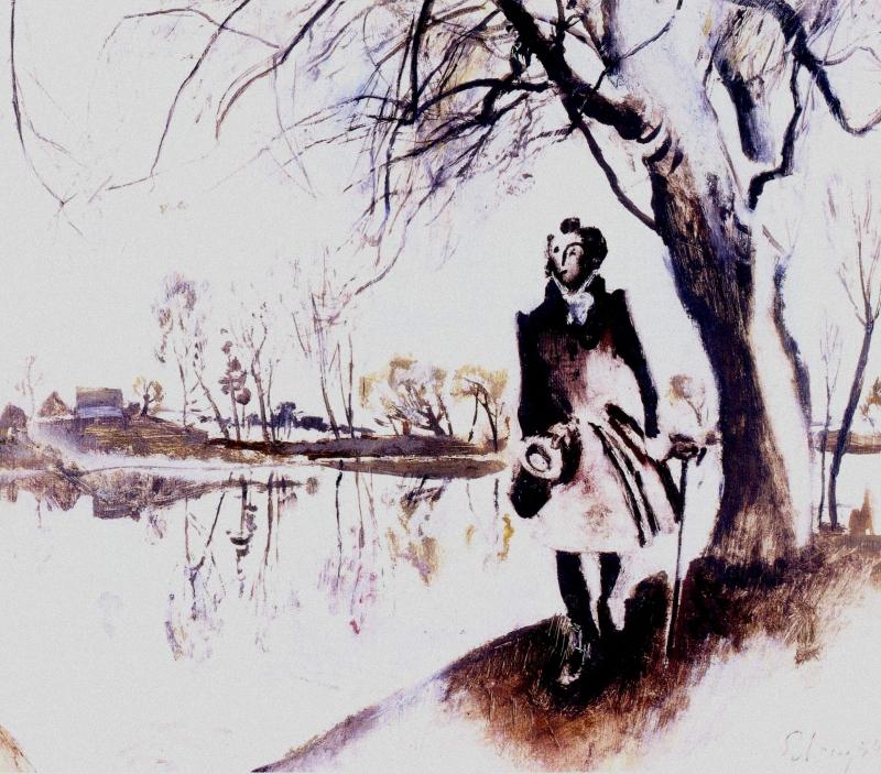 пушкин в болдино с картинками крепятся потолку